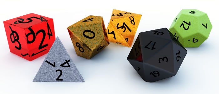 All Role Playing Game Dice