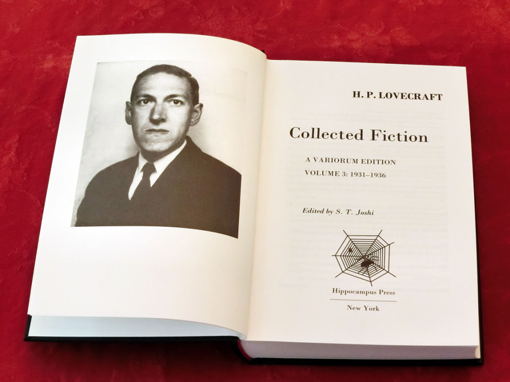 Title Page of Volume 3 of H. P. Lovecraft's Collected Fiction: A Variorum Edition